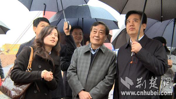 参观宜昌新区开工项目建设宣传展板及施工现场
