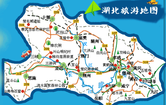 宜昌美食手绘地图