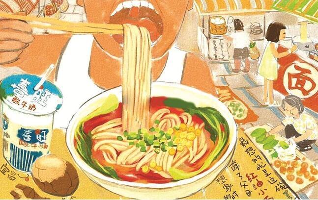 宜昌女孩手绘三峡美食图爆红网络 意在表达思乡之情